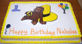 curious george cake template - babyplan